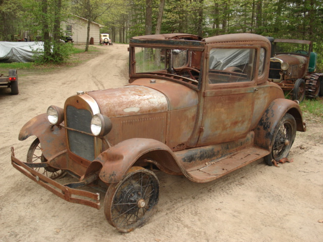 1928 model a leatherback coupe